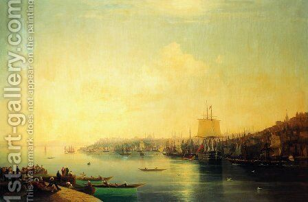 View of Constantinople 2 by Ivan Konstantinovich Aivazovsky - Reproduction Oil Painting
