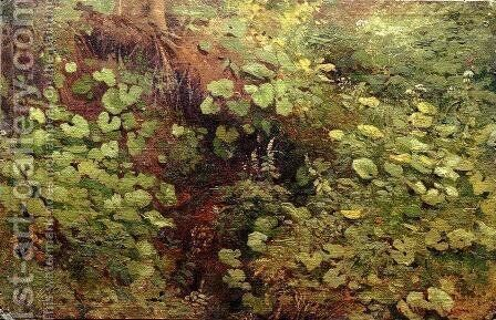 Coltsfoot by Ivan Shishkin - Reproduction Oil Painting
