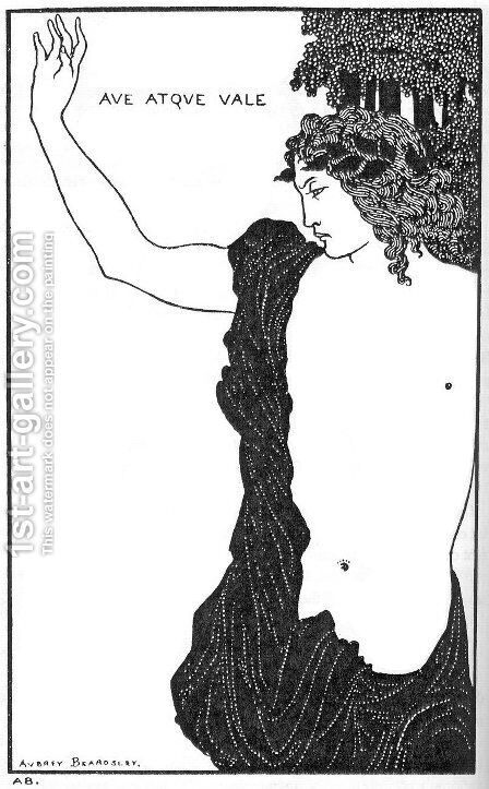 Hail and farewell by Aubrey Vincent Beardsley - Reproduction Oil Painting
