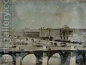 Le Pont Neuf (daguerreotype) by Anton Melbye - Reproduction Oil Painting