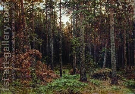 Pine forest 2 by Ivan Shishkin - Reproduction Oil Painting