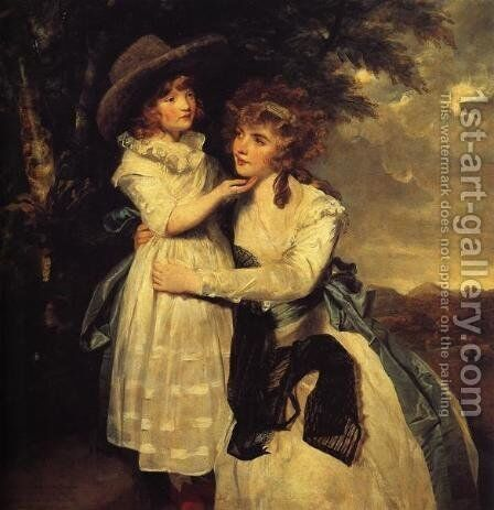 Miss Cocks and Her Niece by Sir Joshua Reynolds - Reproduction Oil Painting