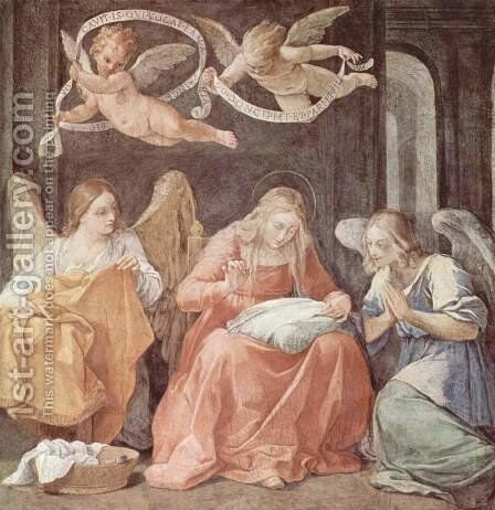 Mary and angels by Guido Reni - Reproduction Oil Painting