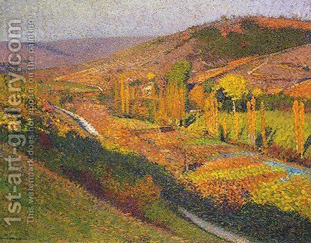 Valley in Labastide du Vert by Henri Martin - Reproduction Oil Painting