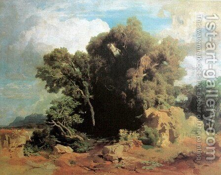 On the Pontine swamps by Arnold Böcklin - Reproduction Oil Painting