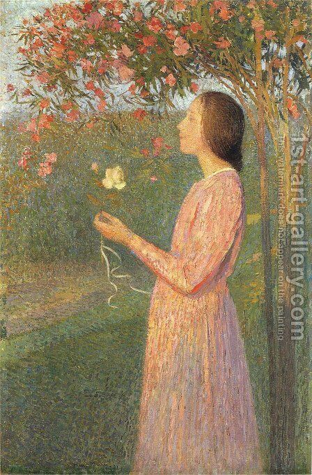 The Rose Robe by Henri Martin - Reproduction Oil Painting