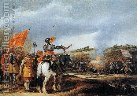 Battle by Adriaen Van De Velde - Reproduction Oil Painting