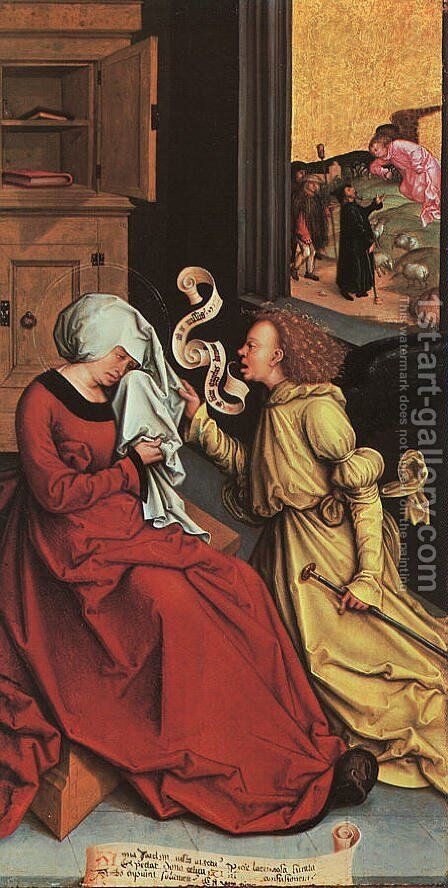 The Announcement to Anne and Joachim by Bernhard Strigel - Reproduction Oil Painting