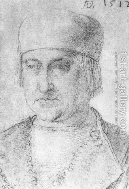 Portrait of a Man with cap by Albrecht Durer - Reproduction Oil Painting