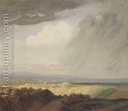 Thunderstorms Over the Valley by Theophile Alexandre Steinlen - Reproduction Oil Painting