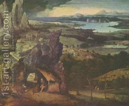Landscape with St. Jerome by Joachim Patenier (Patinir) - Reproduction Oil Painting