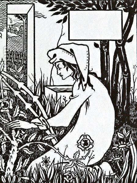 Unknown 9 by Aubrey Vincent Beardsley - Reproduction Oil Painting