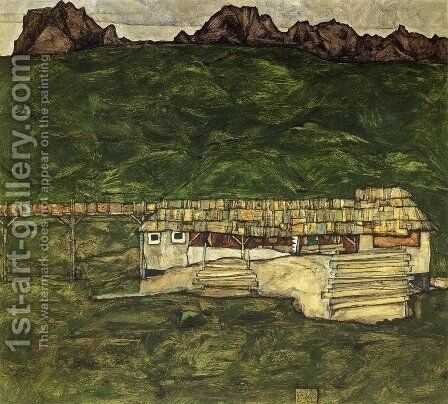 Sawmill by Egon Schiele - Reproduction Oil Painting