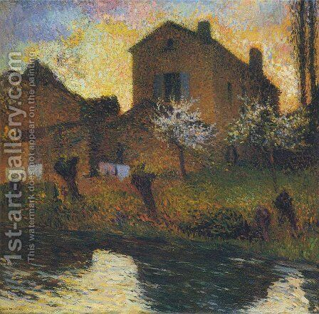 House of Marie Louise in Labastide by Henri Martin - Reproduction Oil Painting
