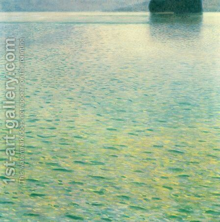 Island in the Attersee by Gustav Klimt - Reproduction Oil Painting
