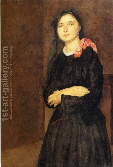 Dorelia in a Black Dres by Gwen John - Reproduction Oil Painting