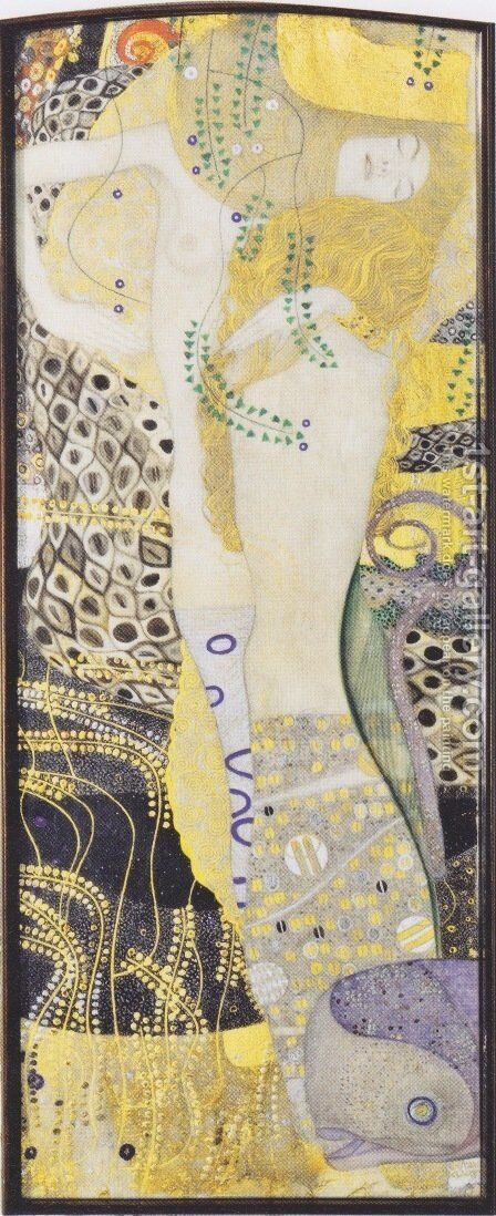 Watersnakes by Gustav Klimt - Reproduction Oil Painting