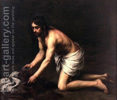 Christ after the Flagellation by Bartolome Esteban Murillo - Reproduction Oil Painting