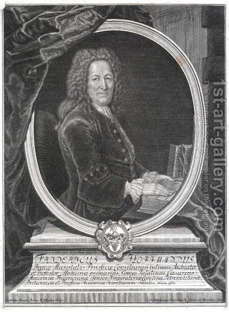 Friedrich Hoffmann, German physician by Antoine Pesne - Reproduction Oil Painting