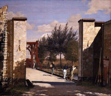 The North Gate of the Citadel by Christen Kobke - Reproduction Oil Painting