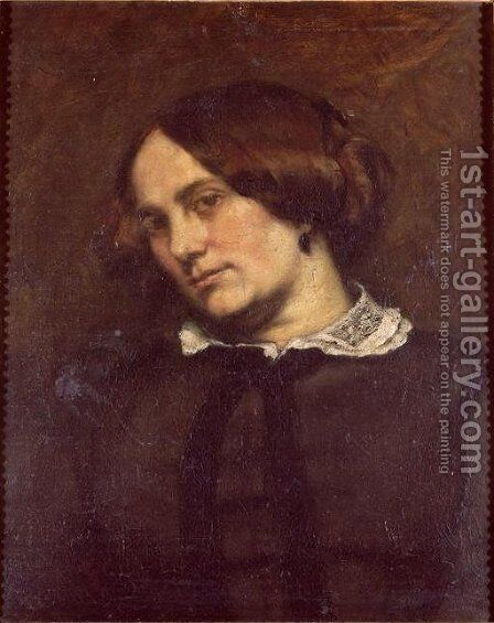 Portrait of Zelie Courbet by Gustave Courbet - Reproduction Oil Painting