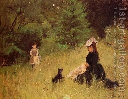 In a Park by Berthe Morisot - Reproduction Oil Painting