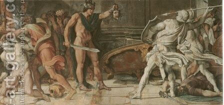 Perseus and Phineas by Annibale Carracci - Reproduction Oil Painting