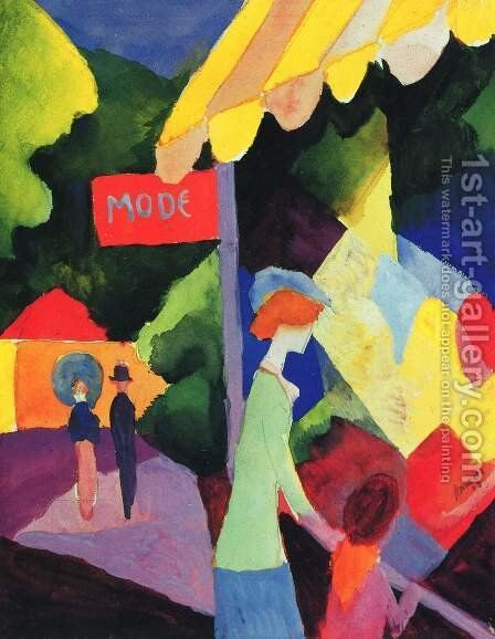 Fashion window by August Macke - Reproduction Oil Painting
