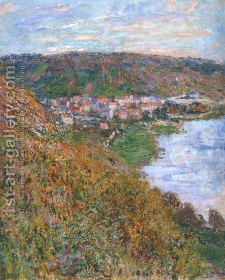View over Vetheuil by Claude Oscar Monet - Reproduction Oil Painting