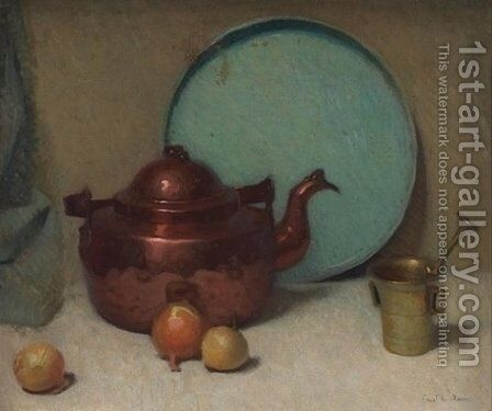 Still Life with Teapot by Emil Carlsen - Reproduction Oil Painting