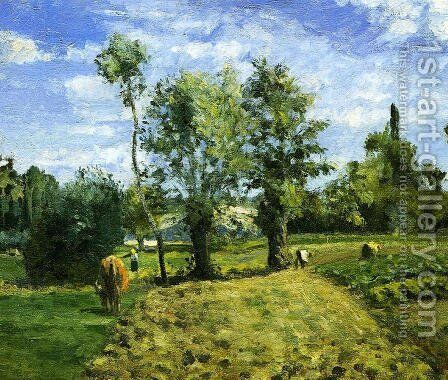 Spring Morning, Pontoise 2 by Camille Pissarro - Reproduction Oil Painting