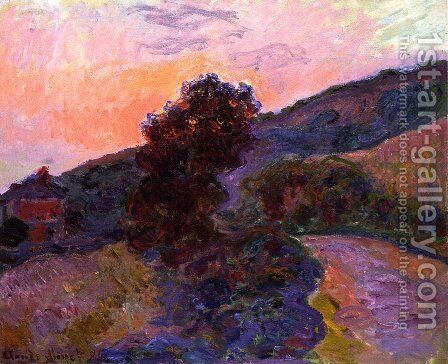 Sunset at Giverny by Claude Oscar Monet - Reproduction Oil Painting
