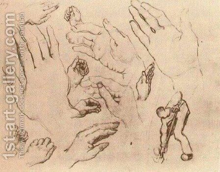 Hands by Vincent Van Gogh - Reproduction Oil Painting