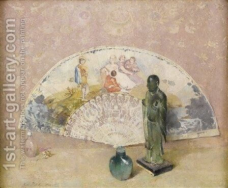 The French Fan 2 by Emil Carlsen - Reproduction Oil Painting