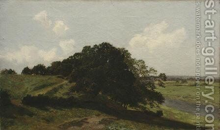 Summer day. Trees by Ivan Shishkin - Reproduction Oil Painting