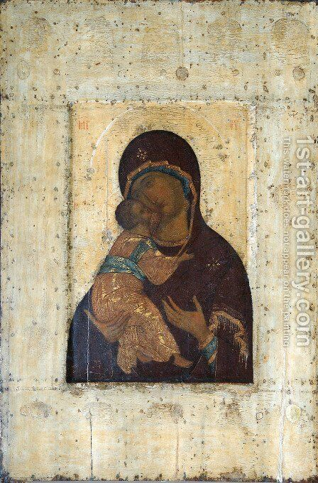 The Virgin of Vladimir by Andrei Rublev - Reproduction Oil Painting