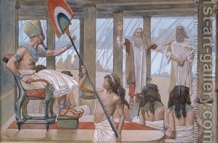 Moses Speaks to Pharaoh by James Jacques Joseph Tissot - Reproduction Oil Painting