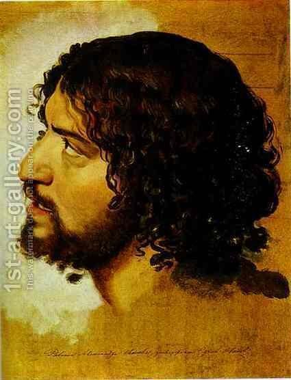 A Head of a Young Man by Alexander Ivanov - Reproduction Oil Painting