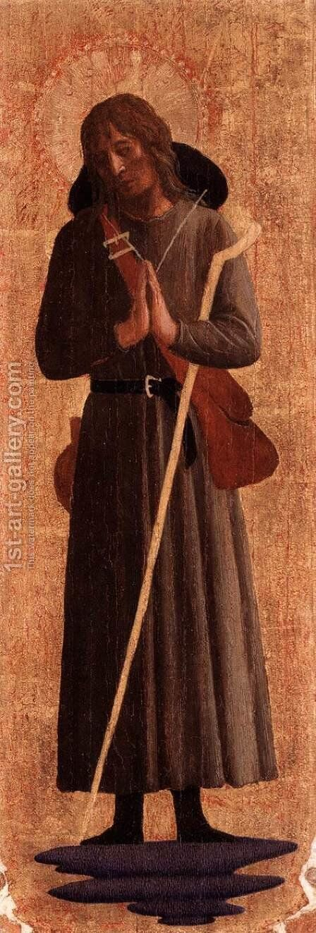 St. Roche by Angelico Fra - Reproduction Oil Painting