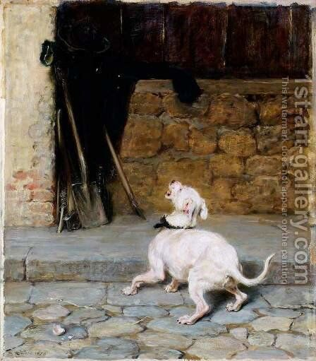 So full of shapes is fancy by Briton Rivière - Reproduction Oil Painting