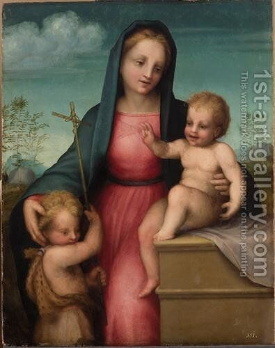 Madonna and Child with St. John the Baptist by Andrea Del Sarto - Reproduction Oil Painting