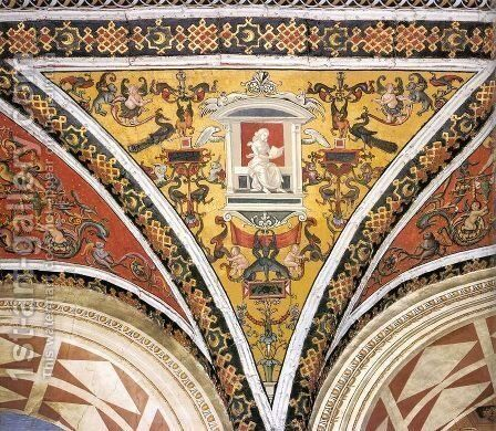 Ceiling decoration (detail) 2 by Bernardino di Betto (Pinturicchio) - Reproduction Oil Painting