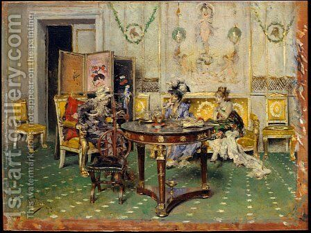 Gossip by Giovanni Boldini - Reproduction Oil Painting