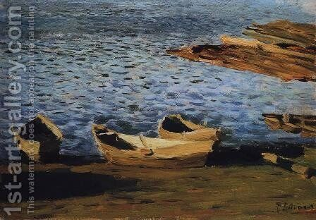 By the Riverside by Isaak Ilyich Levitan - Reproduction Oil Painting