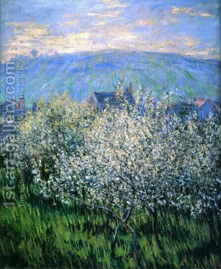 Plums Blossom by Claude Oscar Monet - Reproduction Oil Painting