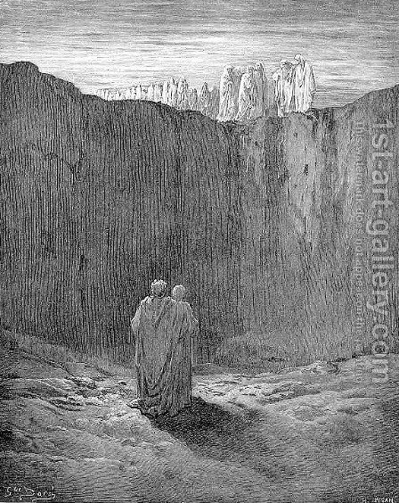 The Mountain's Foot by Gustave Dore - Reproduction Oil Painting