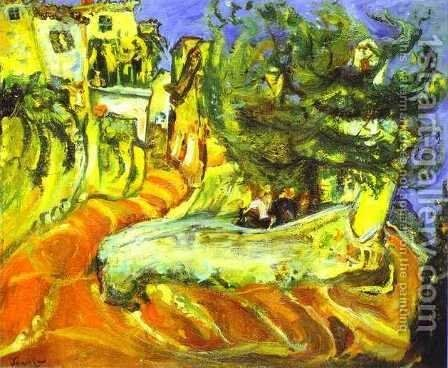 Street of Cagnes-sur-Ner by Chaim Soutine - Reproduction Oil Painting