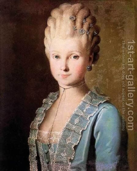 Portrait of a Woman by Carl-Ludwig Christinek - Reproduction Oil Painting