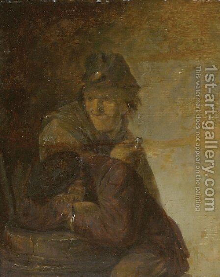 Two Peasants by Adriaen Brouwer - Reproduction Oil Painting