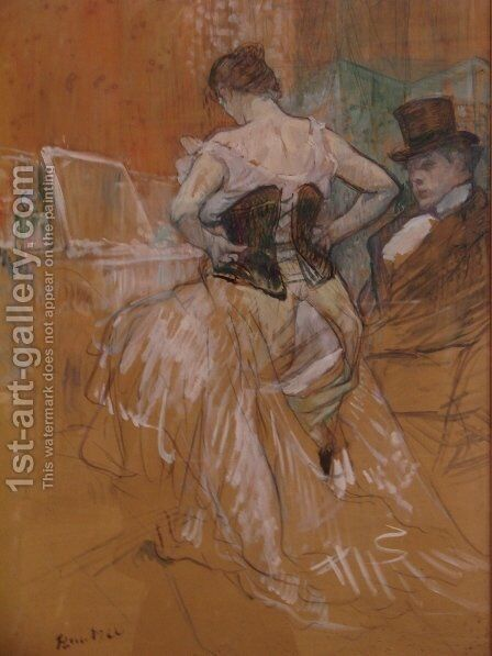 Conquest of passage by Toulouse-Lautrec - Reproduction Oil Painting
